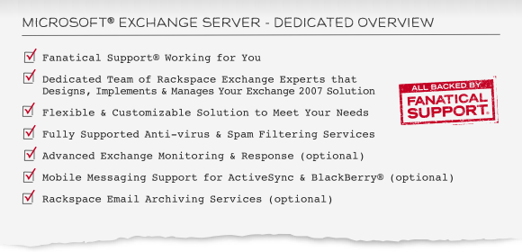 Microsoft Exchange Hosting