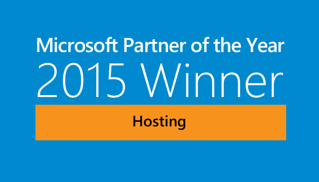 2015 Microsoft Partner of the Year for Hosting